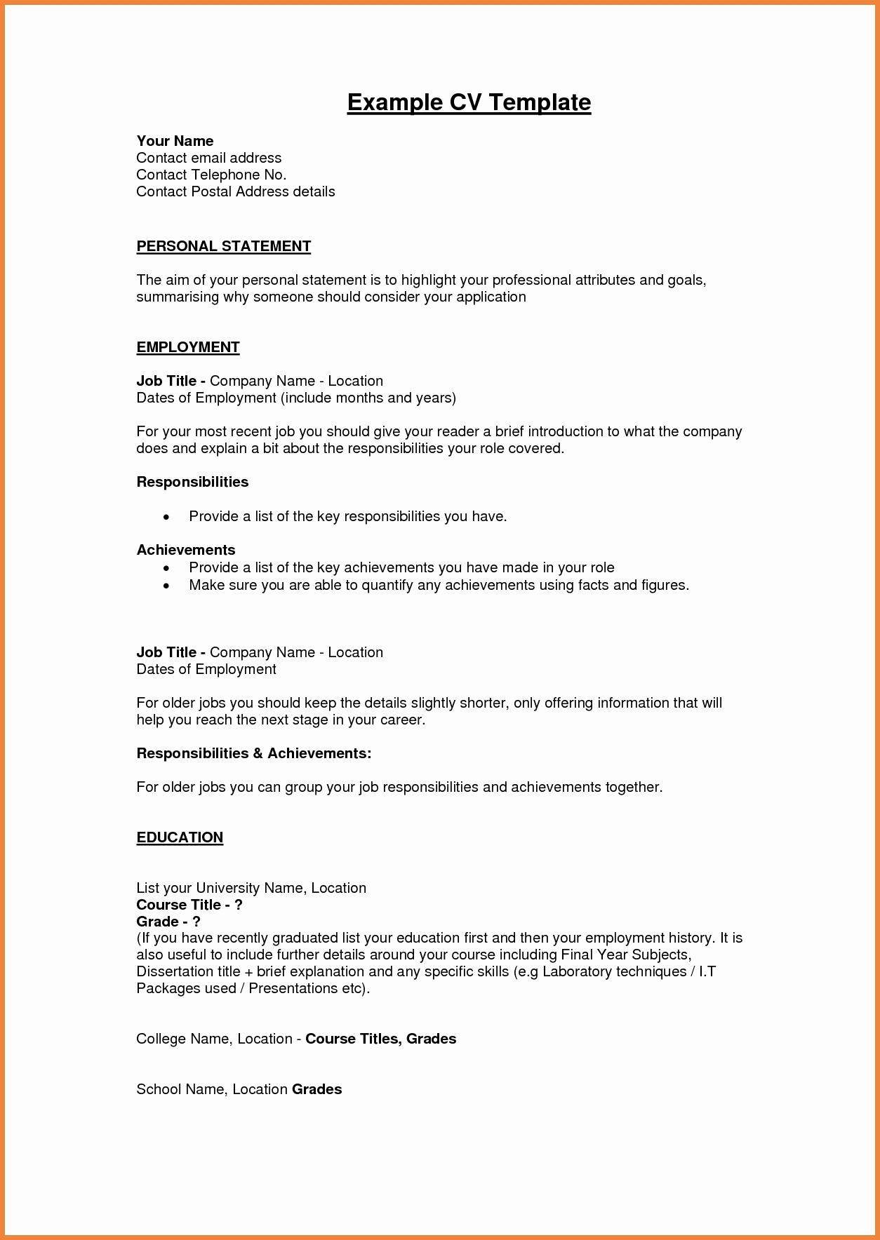 Resume Job Description Examples - Personal Profile format In Resume Luxury Luxury Resume Pdf Beautiful