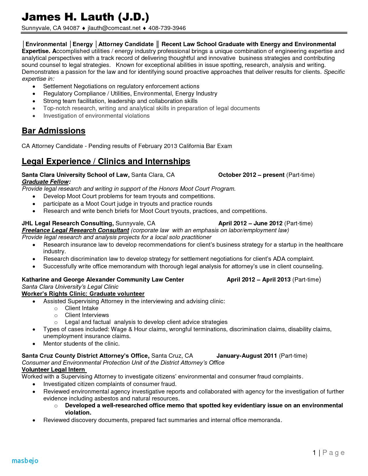 Resume Law School - 31 Best Legal Templates