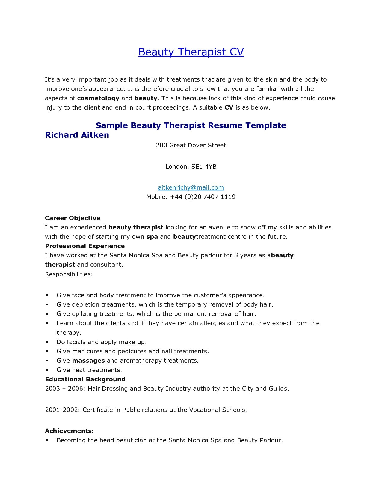 Resume Massage therapy - Massage therapy Resume Best Objective Resume Examples Fresh