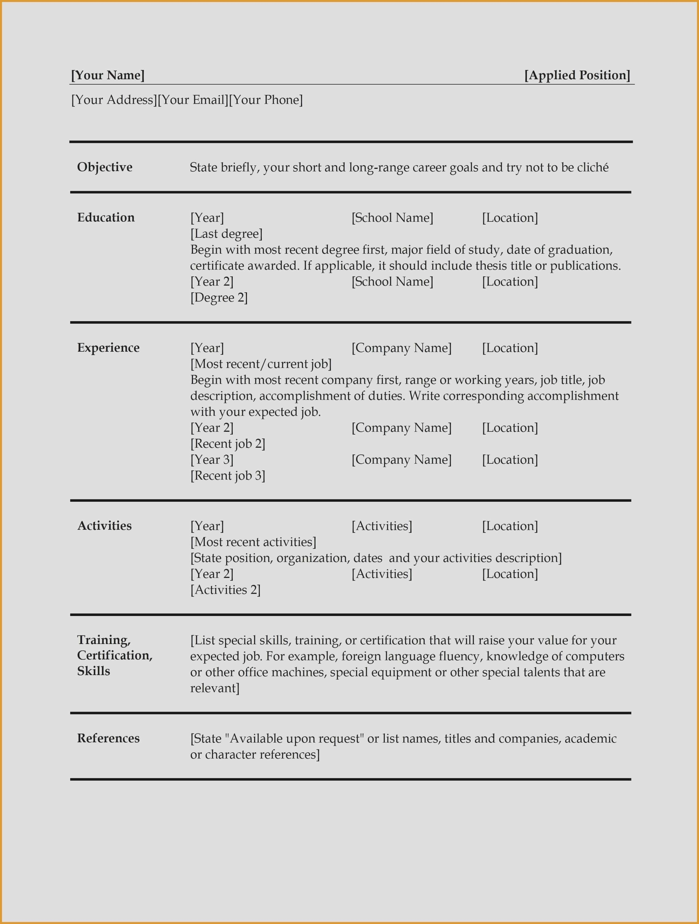 Resume Names that Stand Out Examples - Resume Titles Examples that Stand Out