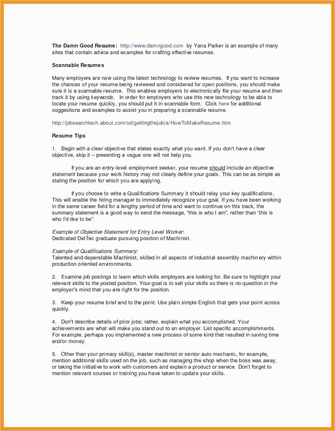 Resume Names that Stand Out Examples - Objective Statement Resume Examples Best Resume Profile Summary