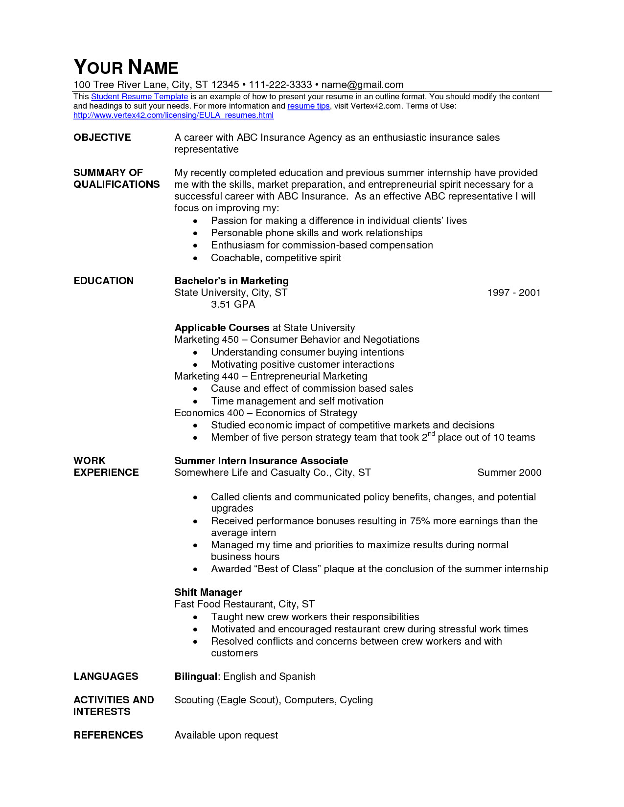 Resume Objective for Fast Food - Entrepreneur Job Description for Resume Popular Fast Food Resume