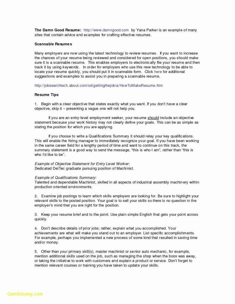 Resume Objective for Fast Food - 75 Elegant S Emt Resume Skills Examples