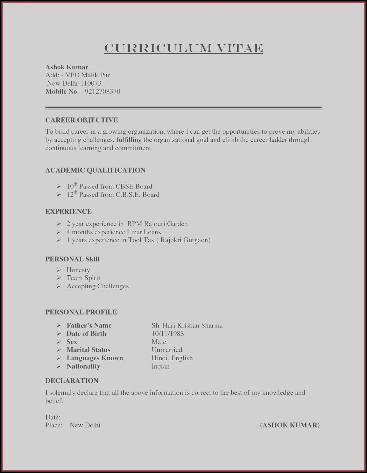 Resume Online Free - 20 Make Resume Line