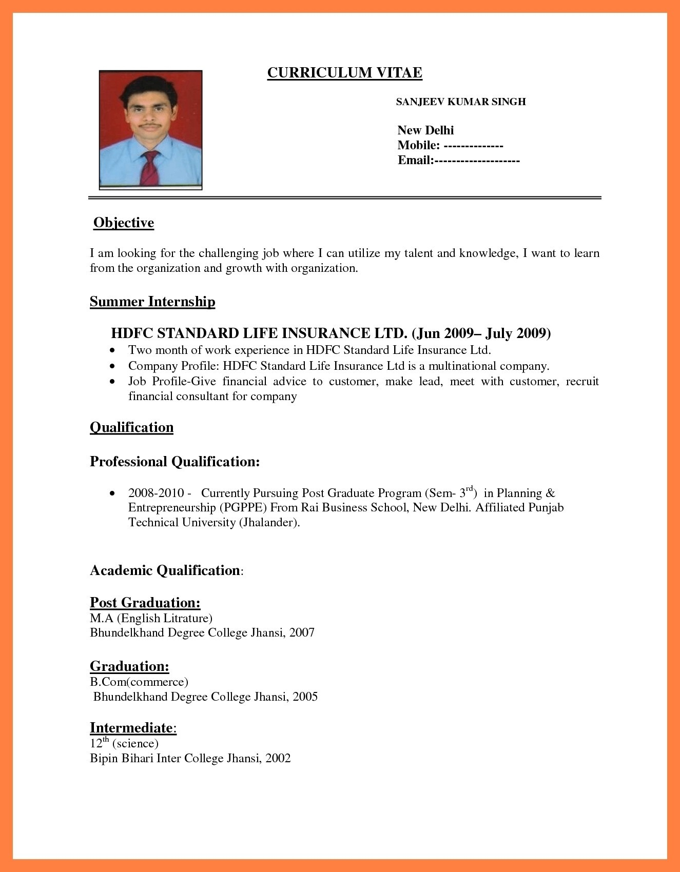 Resume Online Template - Create A Resume Line