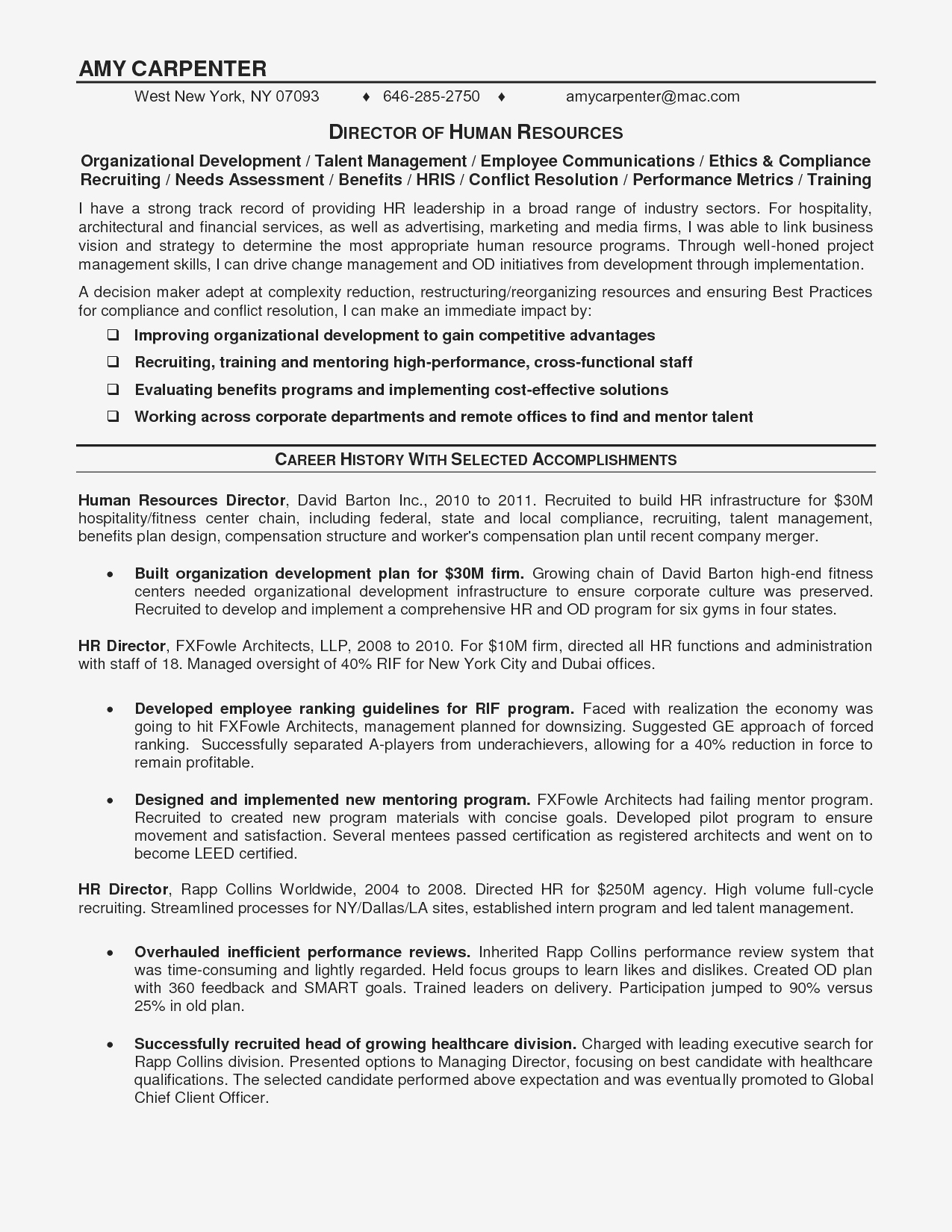 Resume Opening Statement - Sample An Objective In A Resume