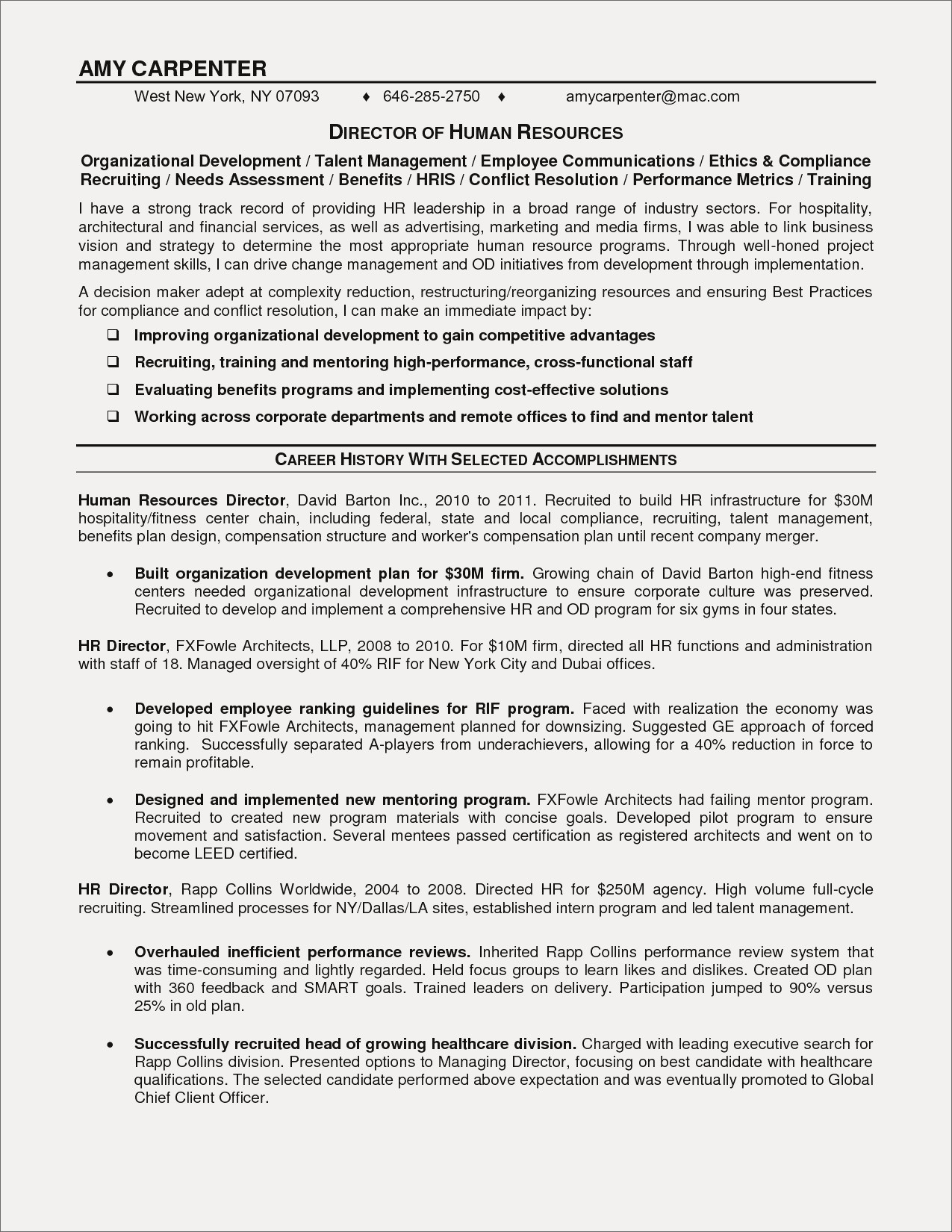 Resume Opening Statements Examples - Objective Statement Examples for Resume New Example Resume Objective
