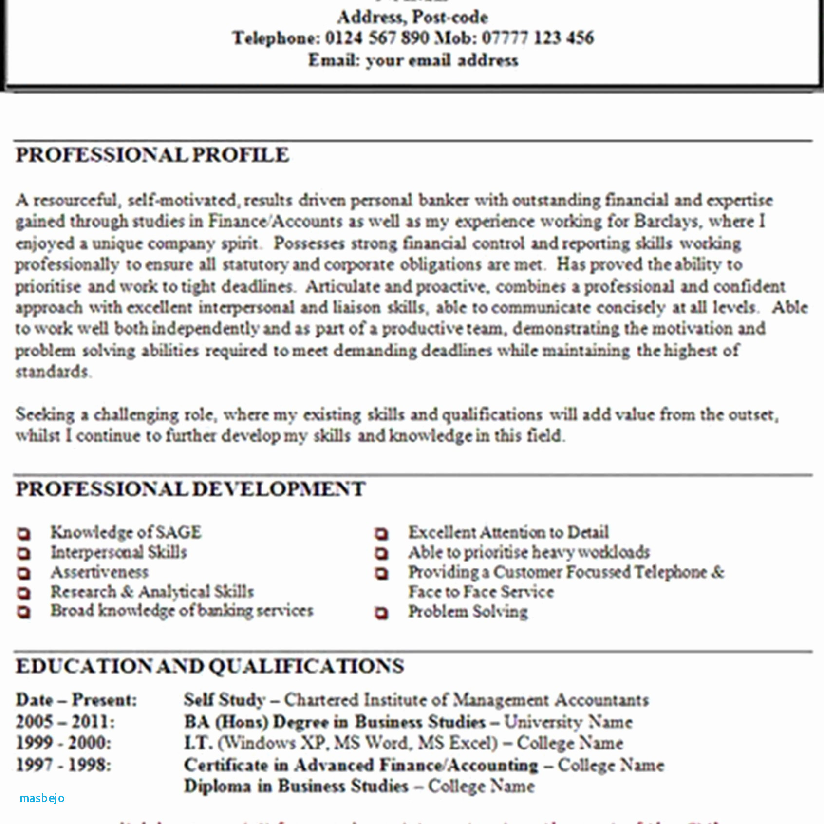 Resume Personal Statement - 16 Lovely Resume Personal Statement Land Of Template