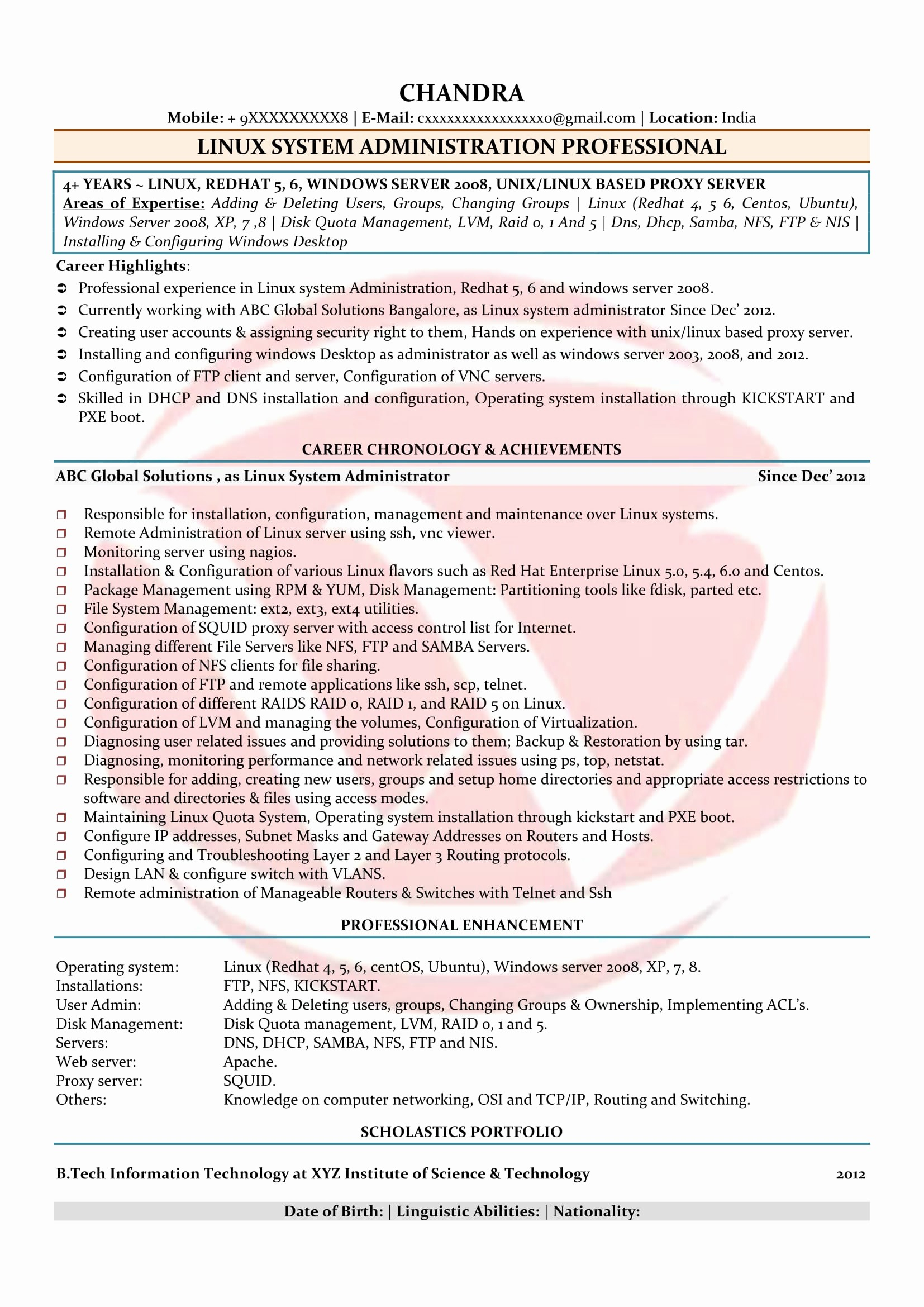 8 resume rabbit cost samples