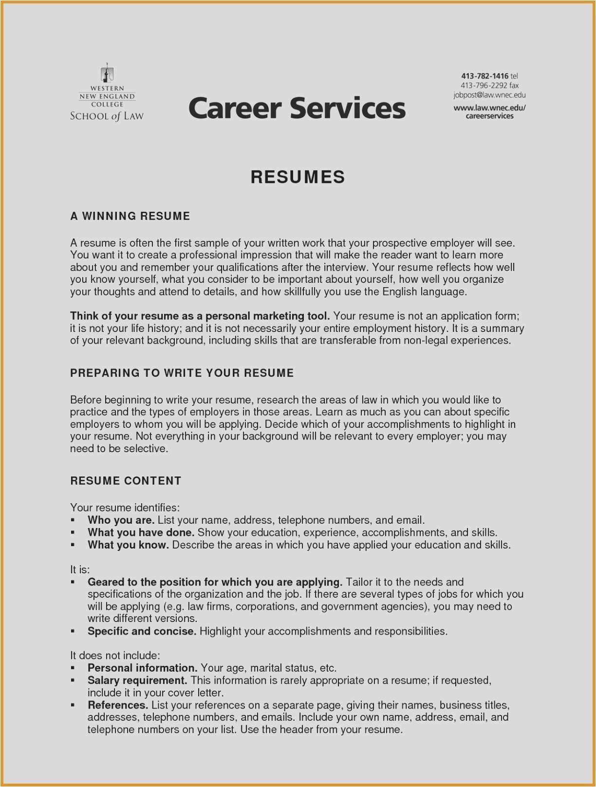 Resume References Page Sample - Types Business Picture Type A Resume Beautiful New Entry Level
