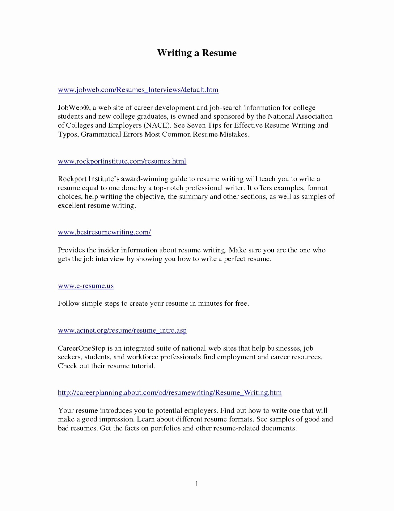 Resume Samples for Career Changers - Career Change Resume Samples