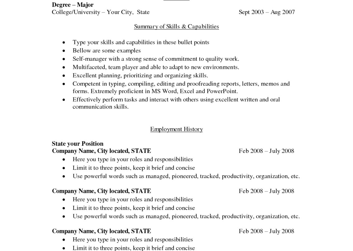Resume Self Descriptive Words - Descriptive Words for Resume