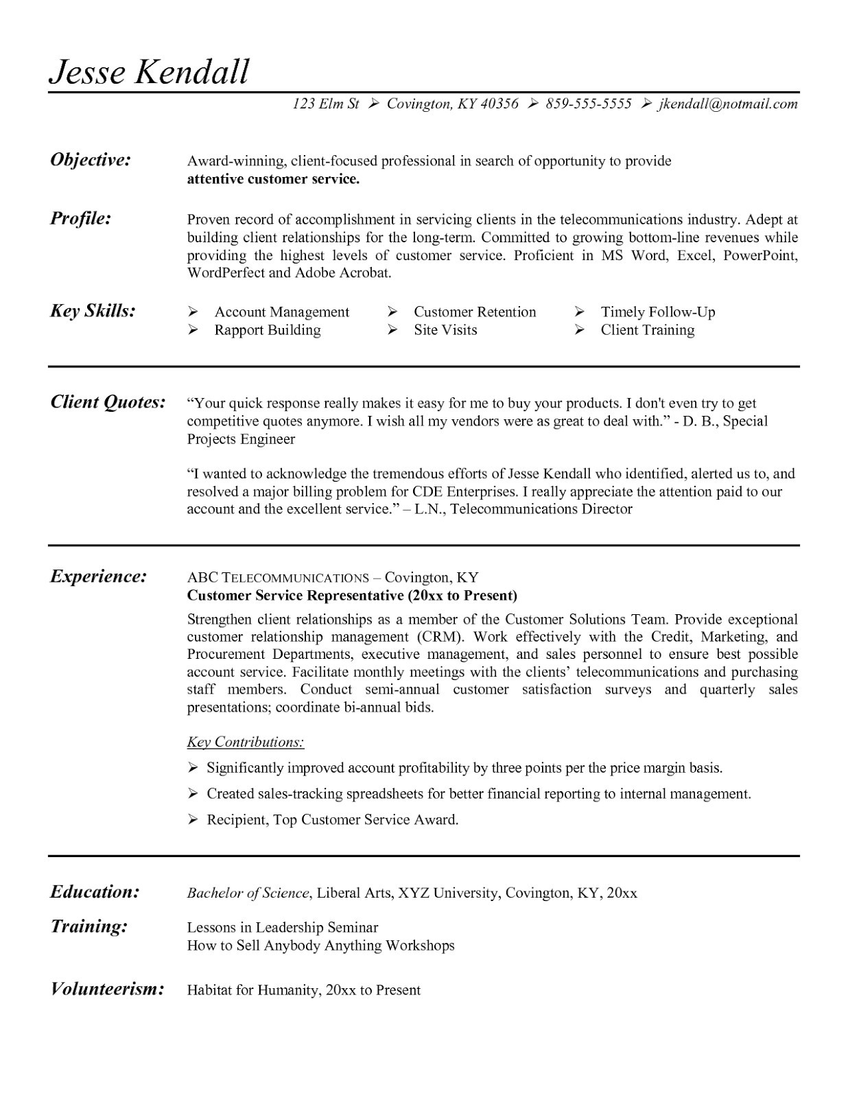 Resume Summary Section - 25 Fresh Resume Summary Section