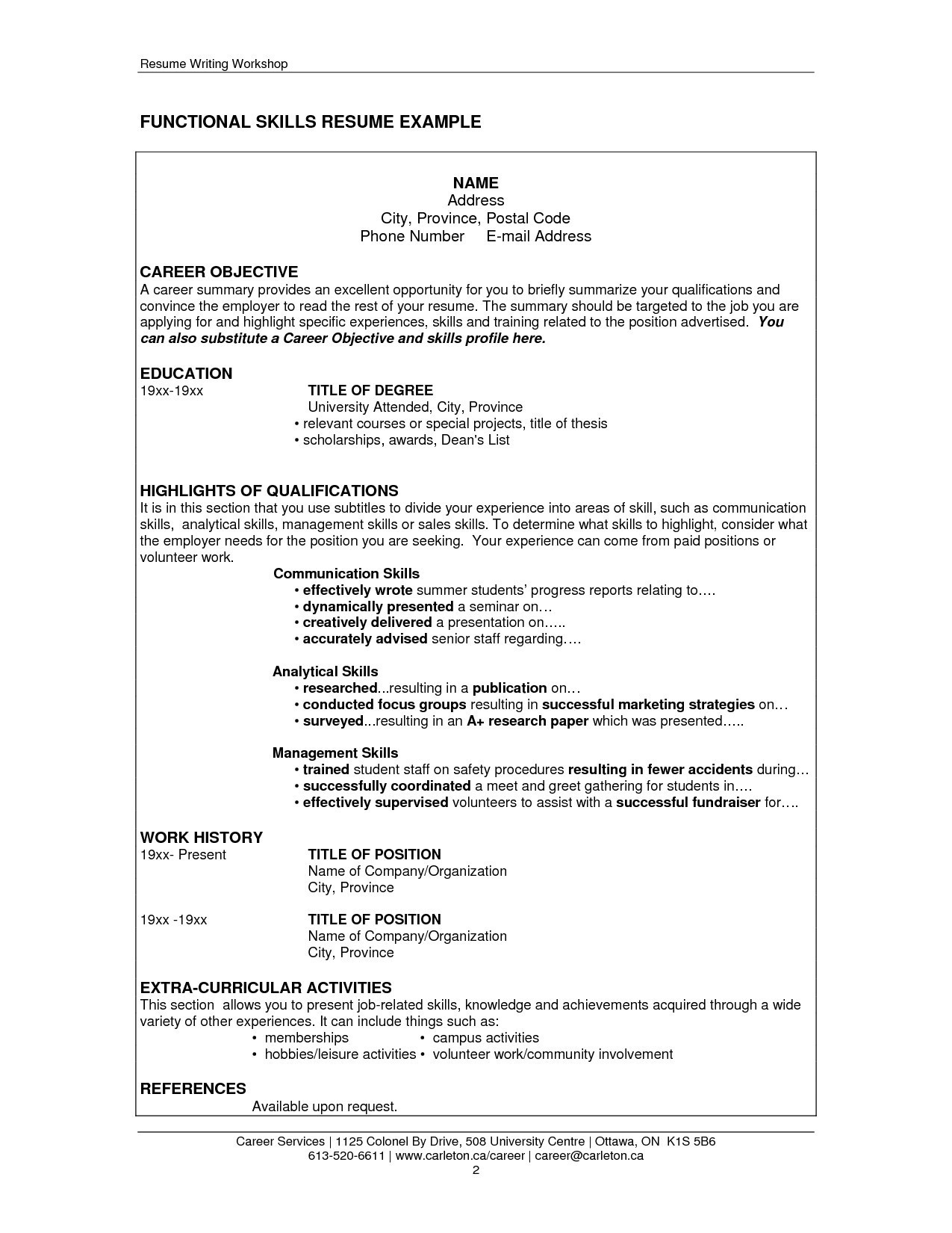 Resume Summary Section - Resume Examples Skills and Abilities Refrence Resume Skills and