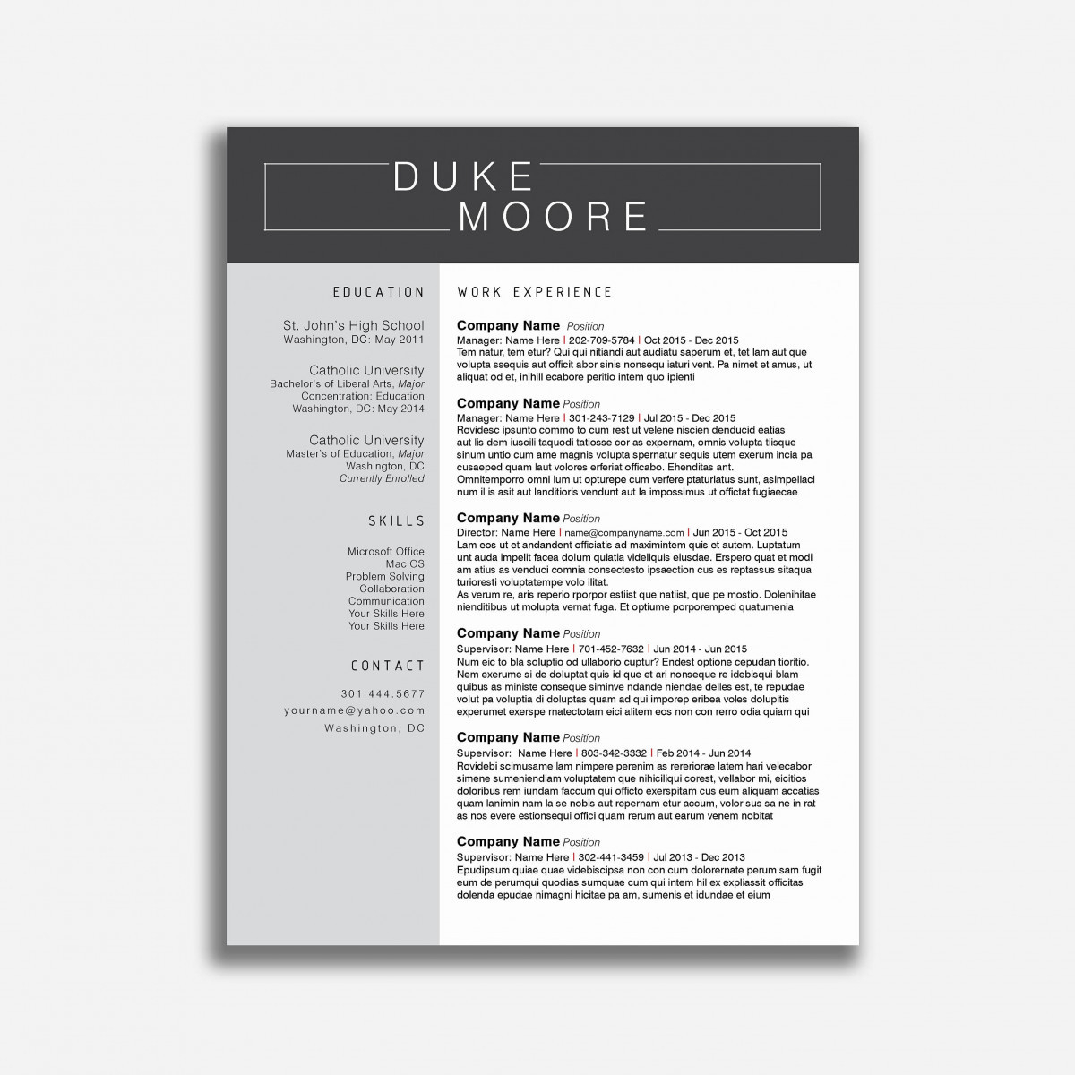 Resume Template Bartender - Bartender Resume Templates Inspirational Resume Template for