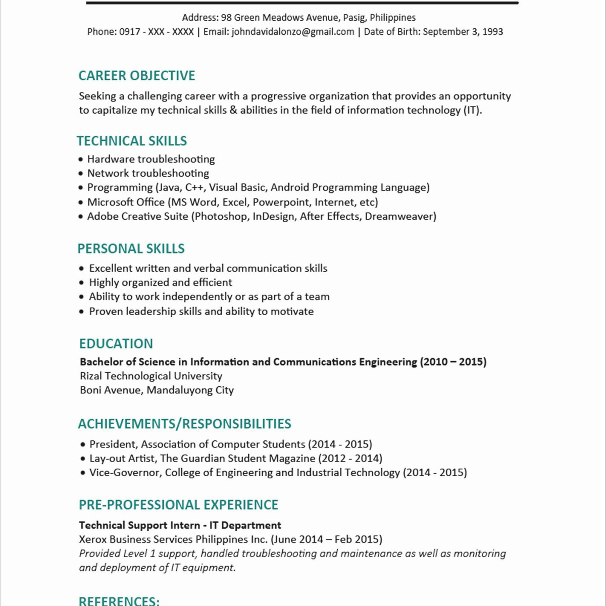 Resume Template Design Scholarship - 39 Cute College Scholarship Resume V5s
