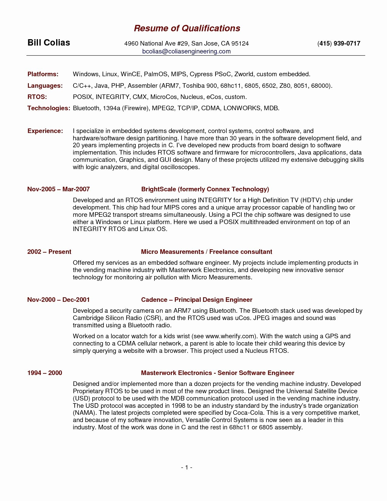 Resume Template for Chef - Download Fresh Chef Resume Sample