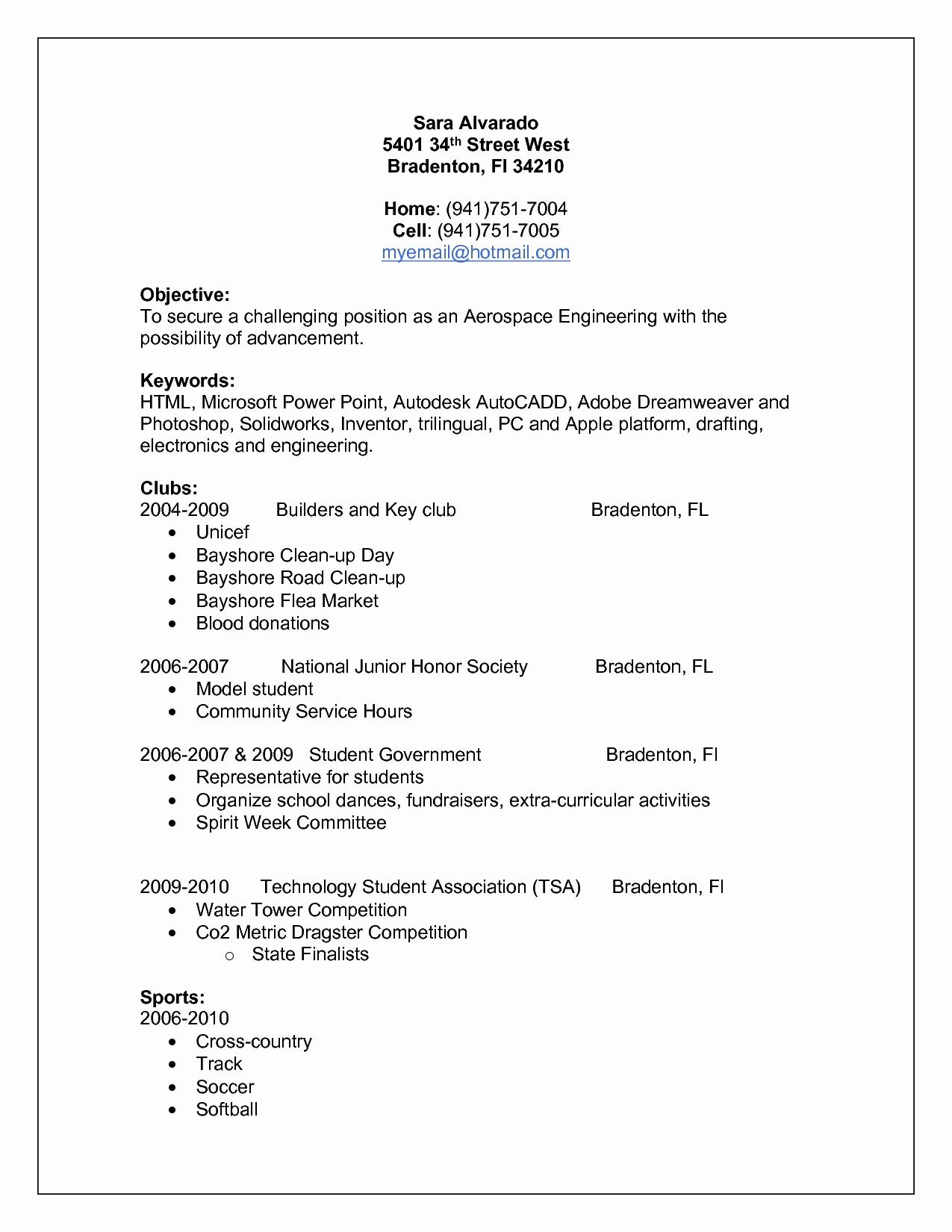 Resume Template for Engineers - Resume Educational Background format Awesome Lovely Pr Resume
