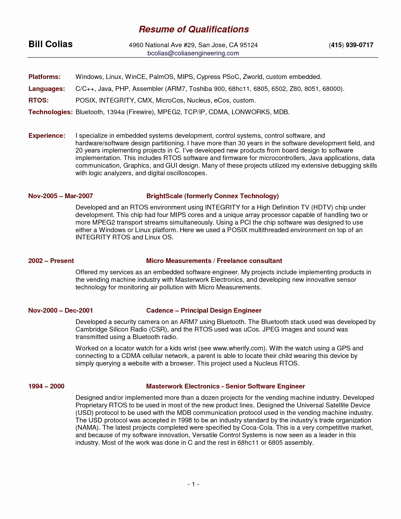 Resume Template for Engineers - Download Unique Best Resume Template