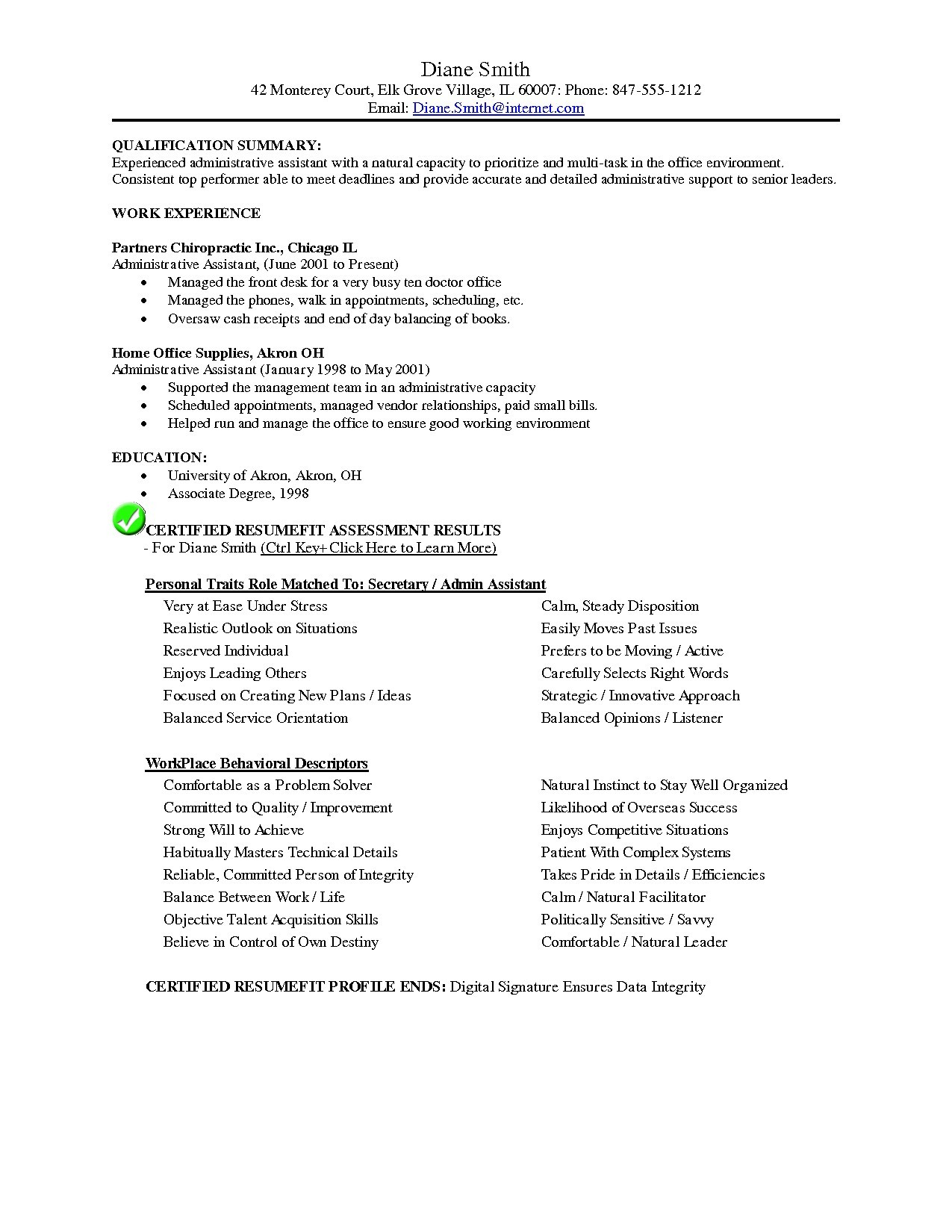 Resume Template for Secretary - 23 Resume Templates for Nursing Jobs