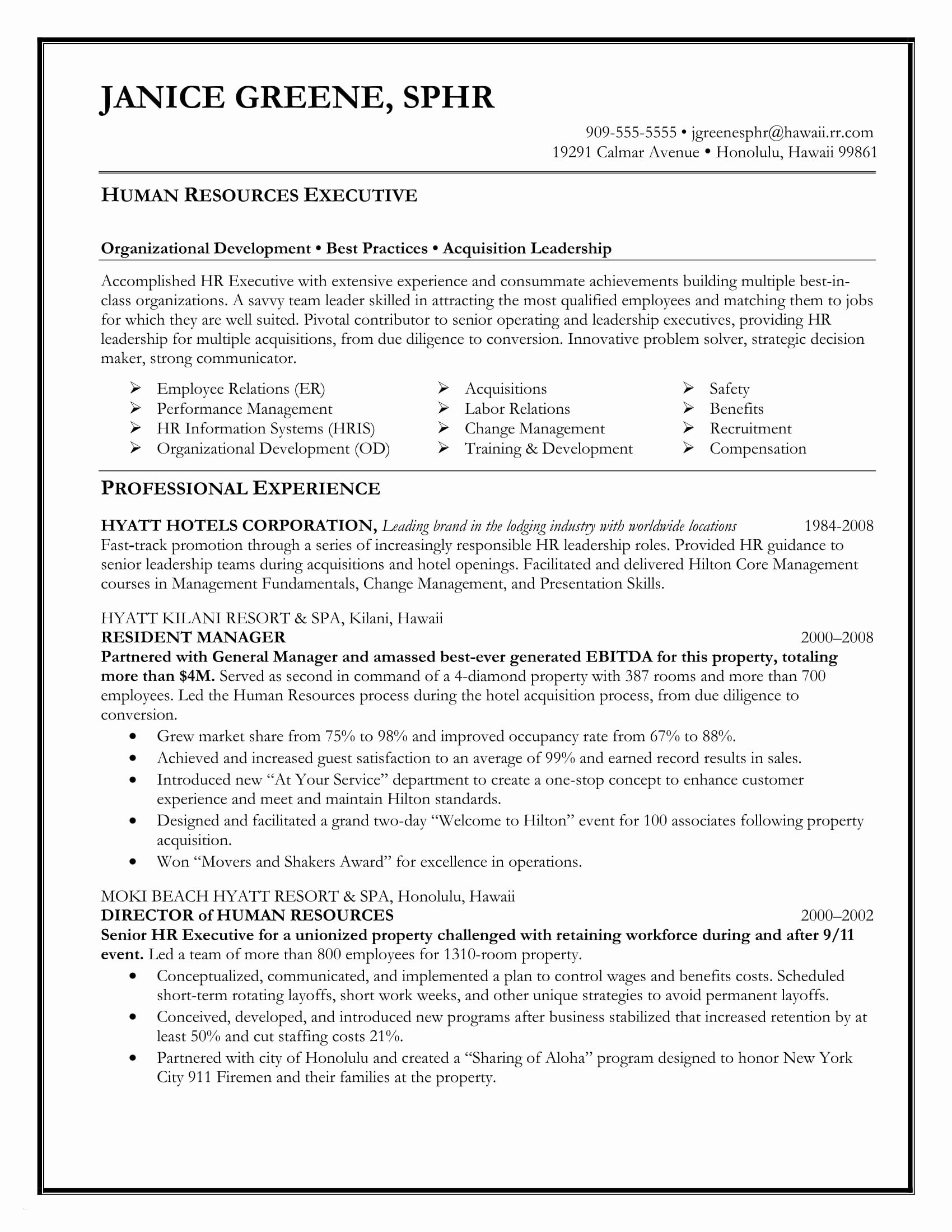 Resume Template for Senior Management - Classic Resume Template Download Paragraphrewriter