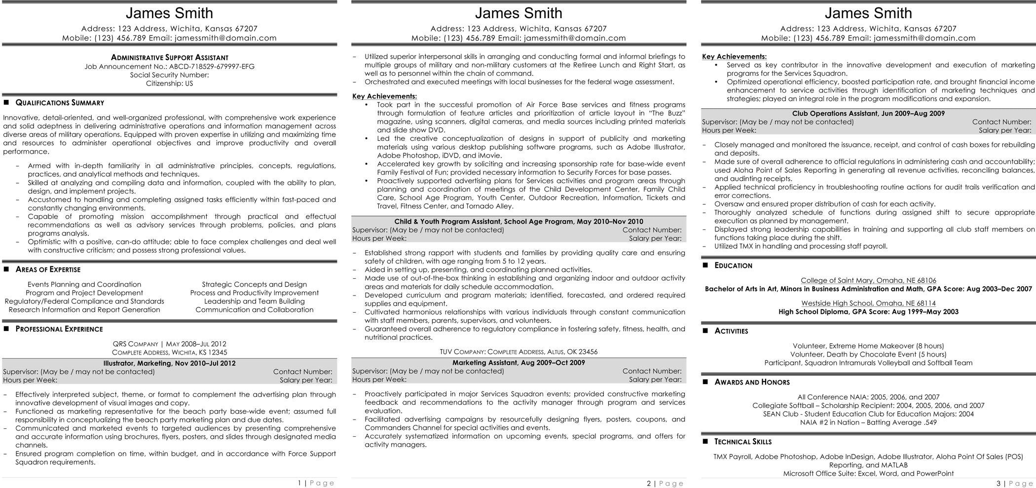 Resume Template for Supervisor Position - Executive assistant Resume Fresh Resume Template Executive assistant