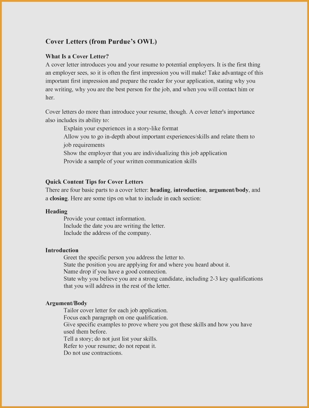Resume Template Purdue - Purdue Cover Letter Lovely Purdue Owl Resume 15 Inspirational S