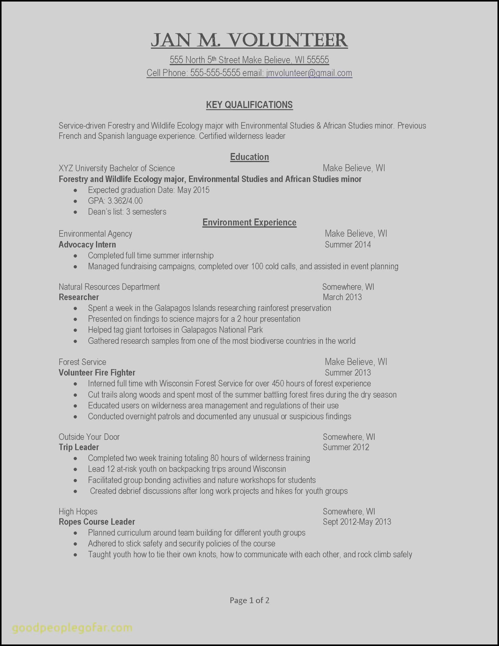Resume Template Scientist - Resume Examples for Warehouse Position Recent Example Job Resume
