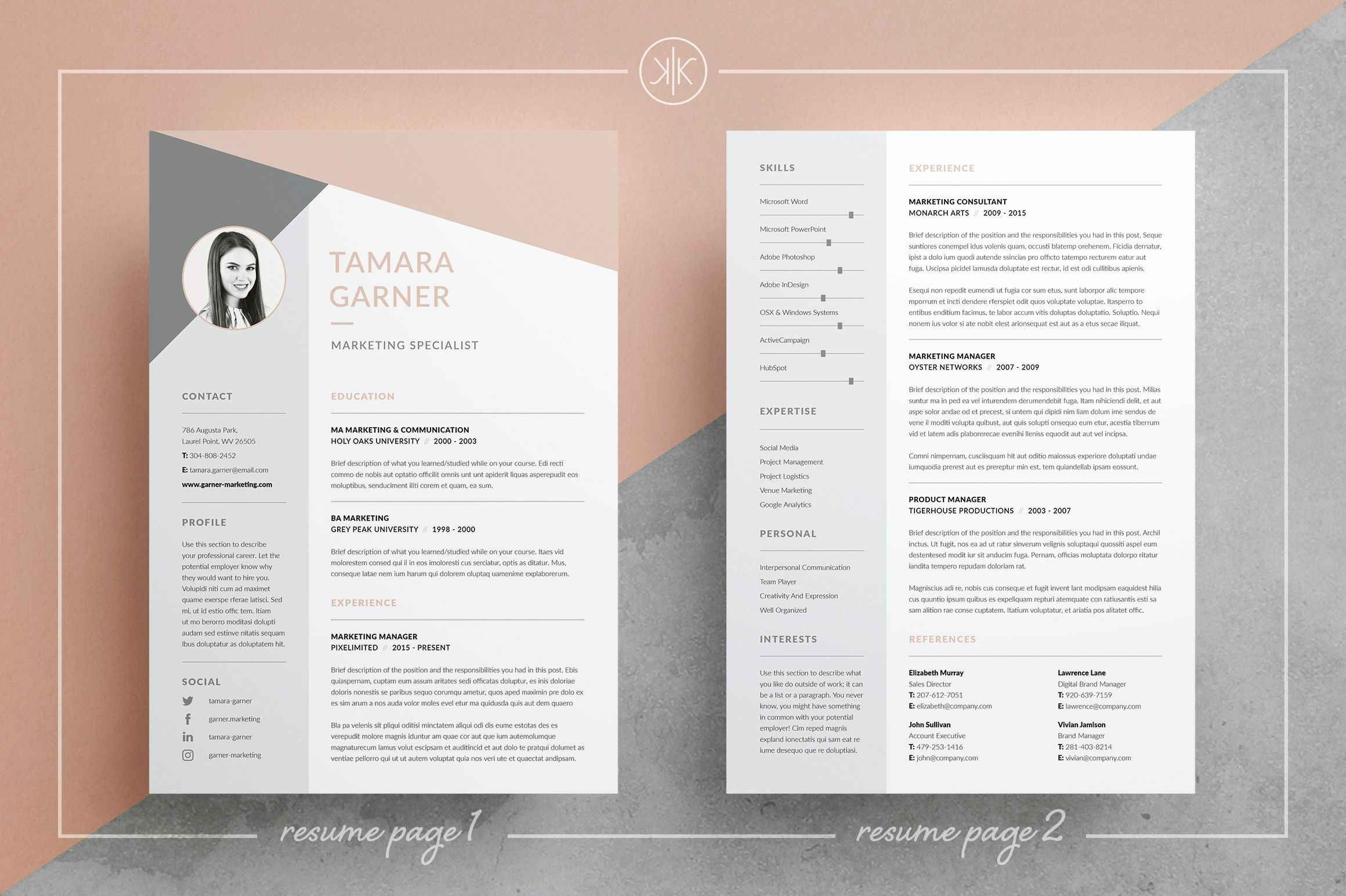 Resume Template Word 2003 - Free Creative Resume Templates Microsoft Word Reference Creative