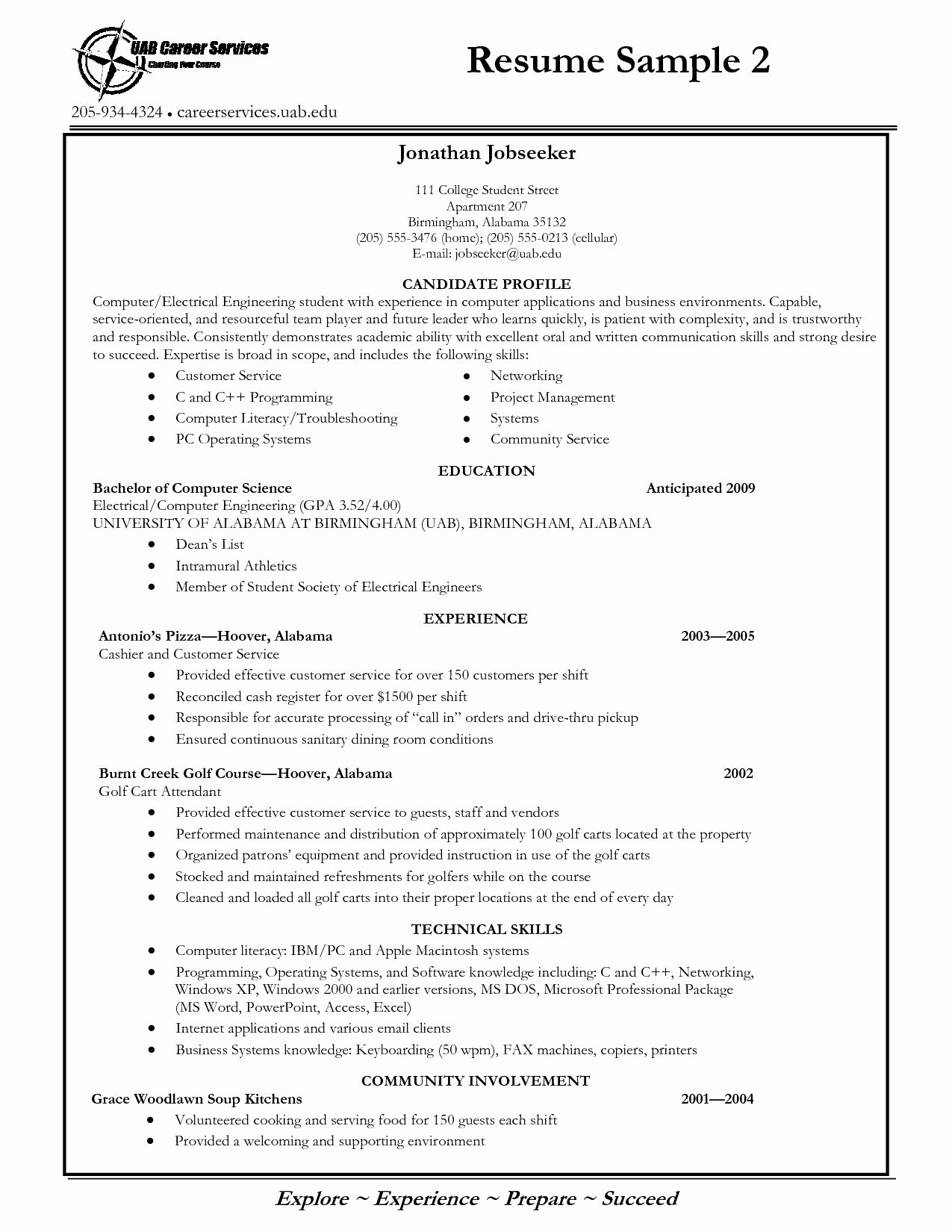 Resume Templates for College Students - Fresh Sample Resume Templates for College Students