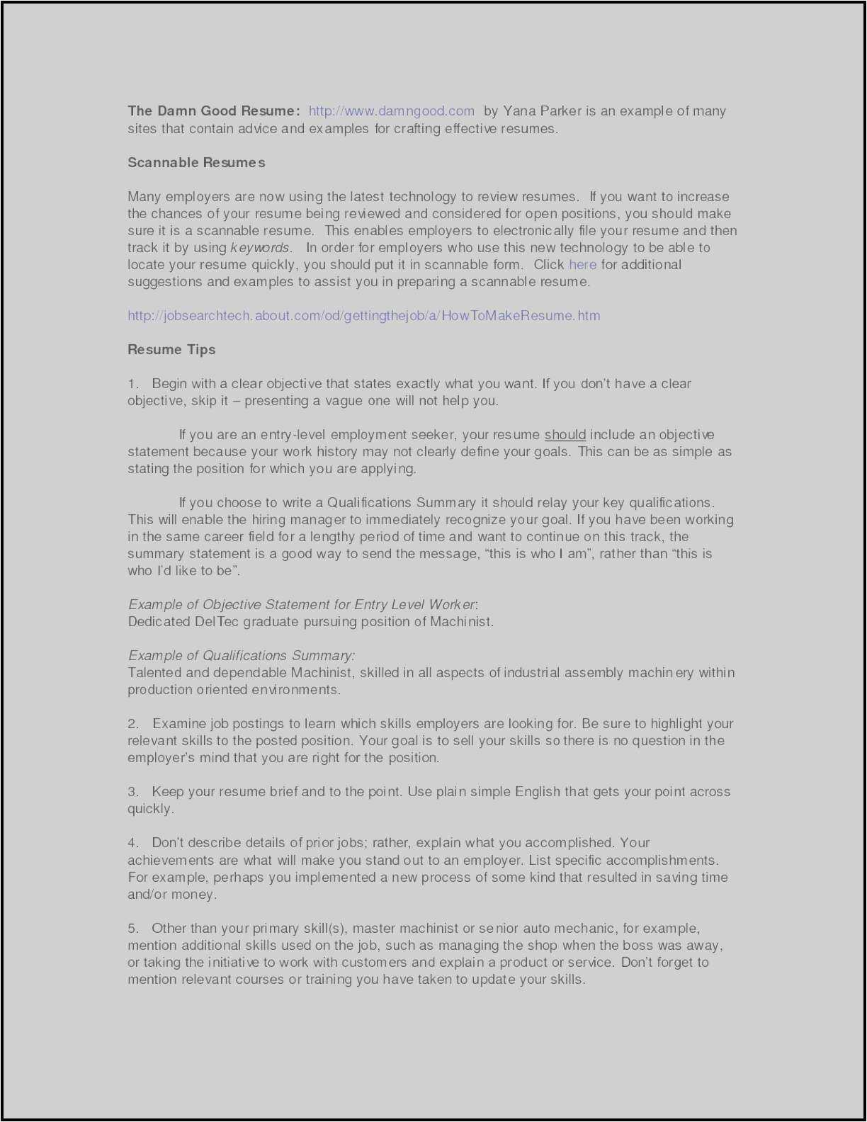 Resume Templates for Manufacturing Jobs - 25 Free Profile Resume Samples Picture