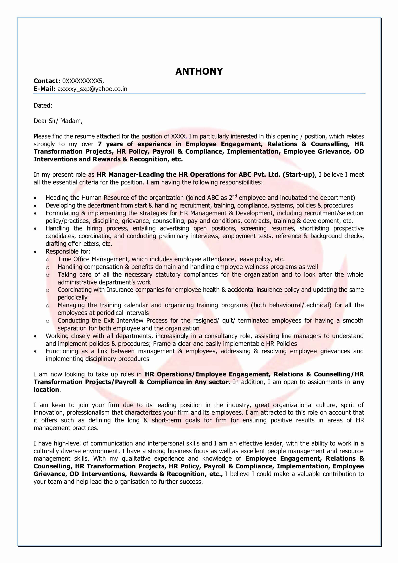 Resume Templates for Medical Field - Counselling Letter Template Samples