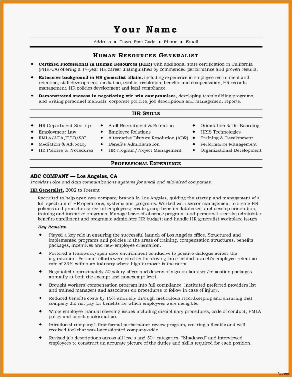 Resume Website Examples - Resume Website Examples Lovely A Great Resume format Example A Great