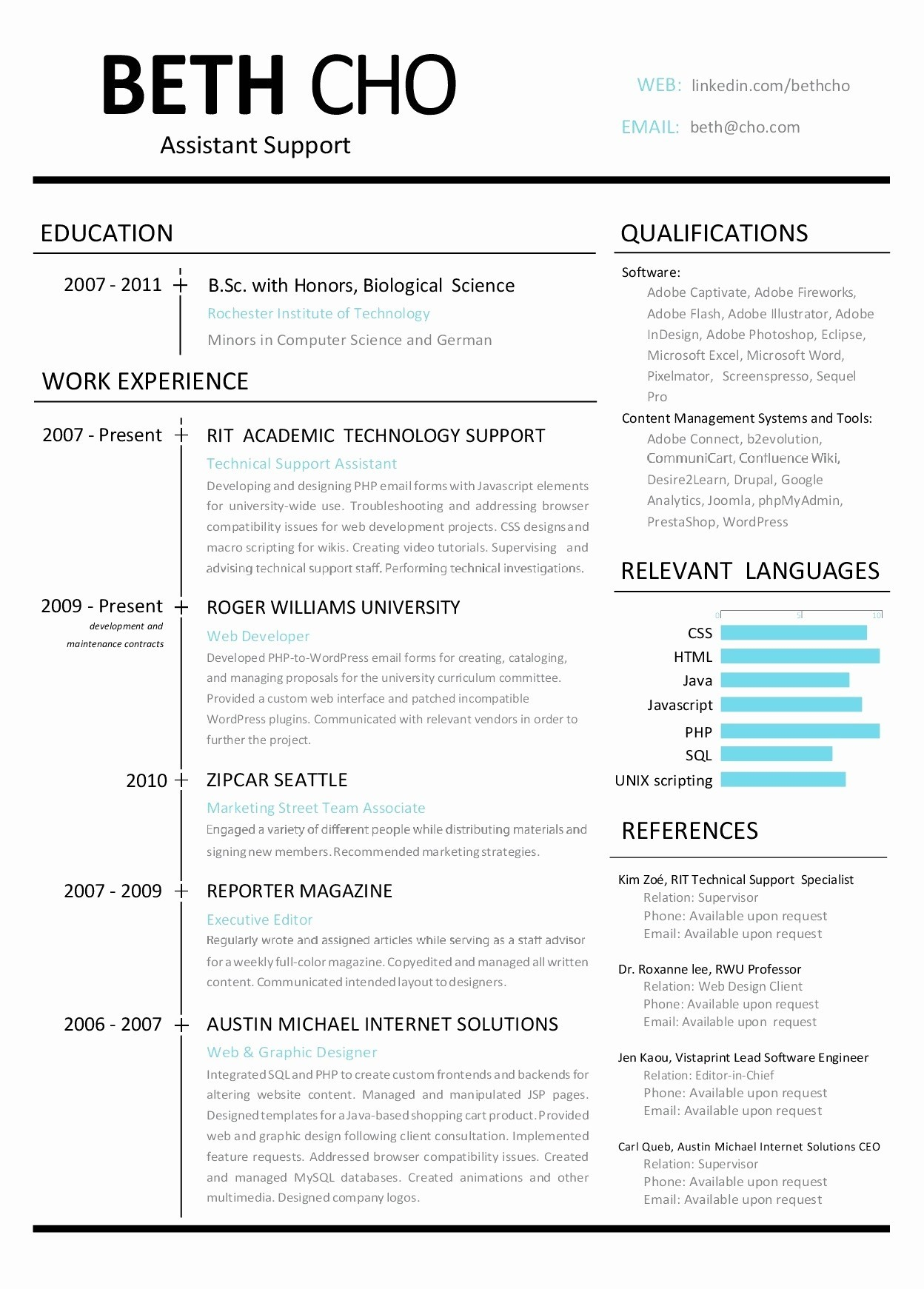 Resume Website Template Free - Resume Website Examples New Resume Website Template Free