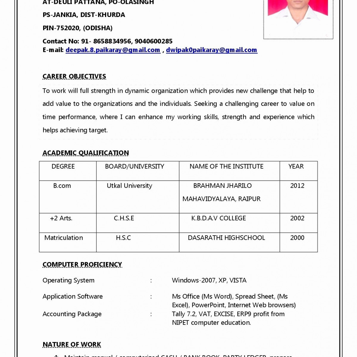 Resume with Picture Template - Sample Resume for Job Application Beautiful Lovely Make A Resume