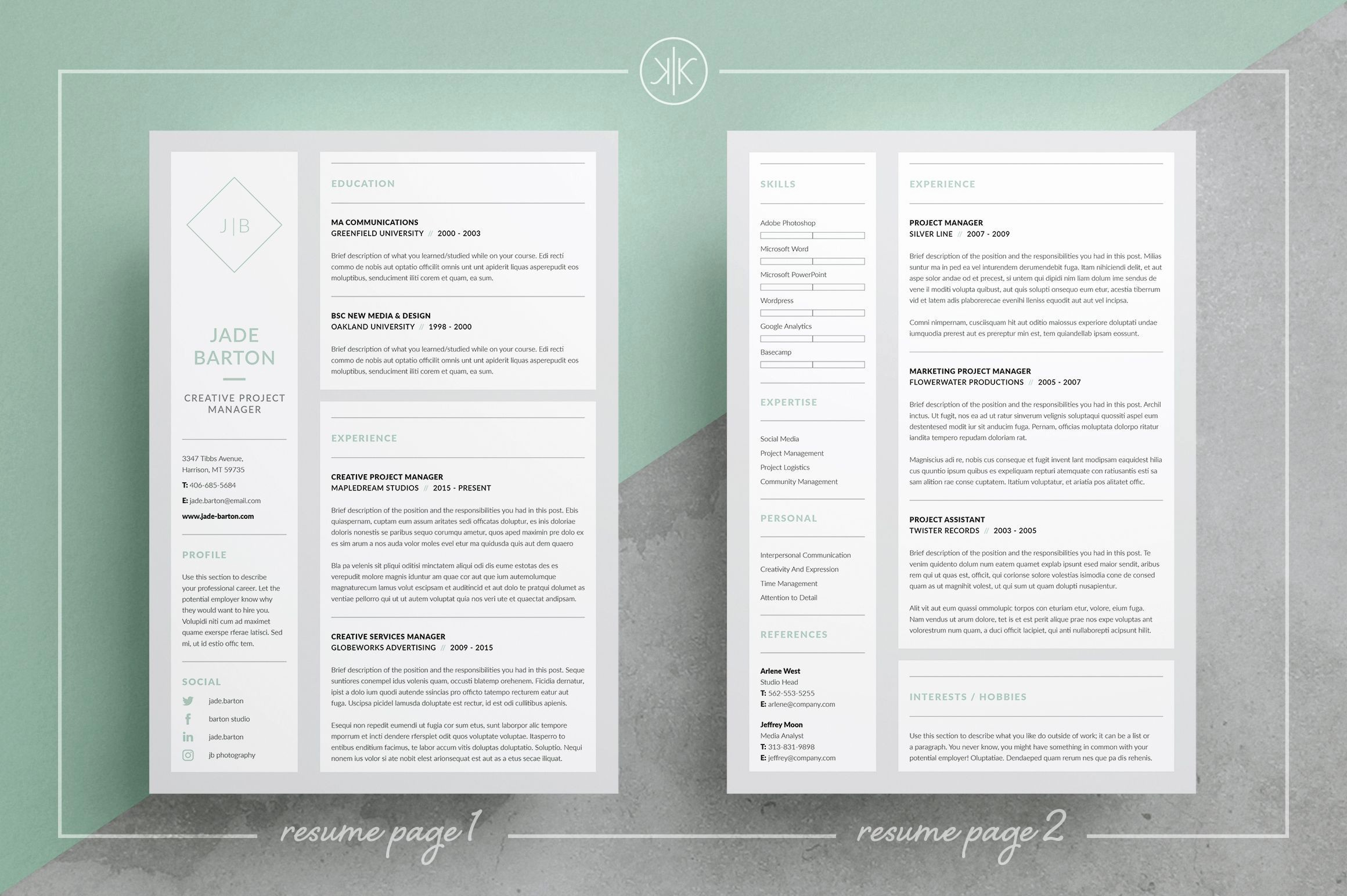Resume Word Templates - 23 New Resume Word Template