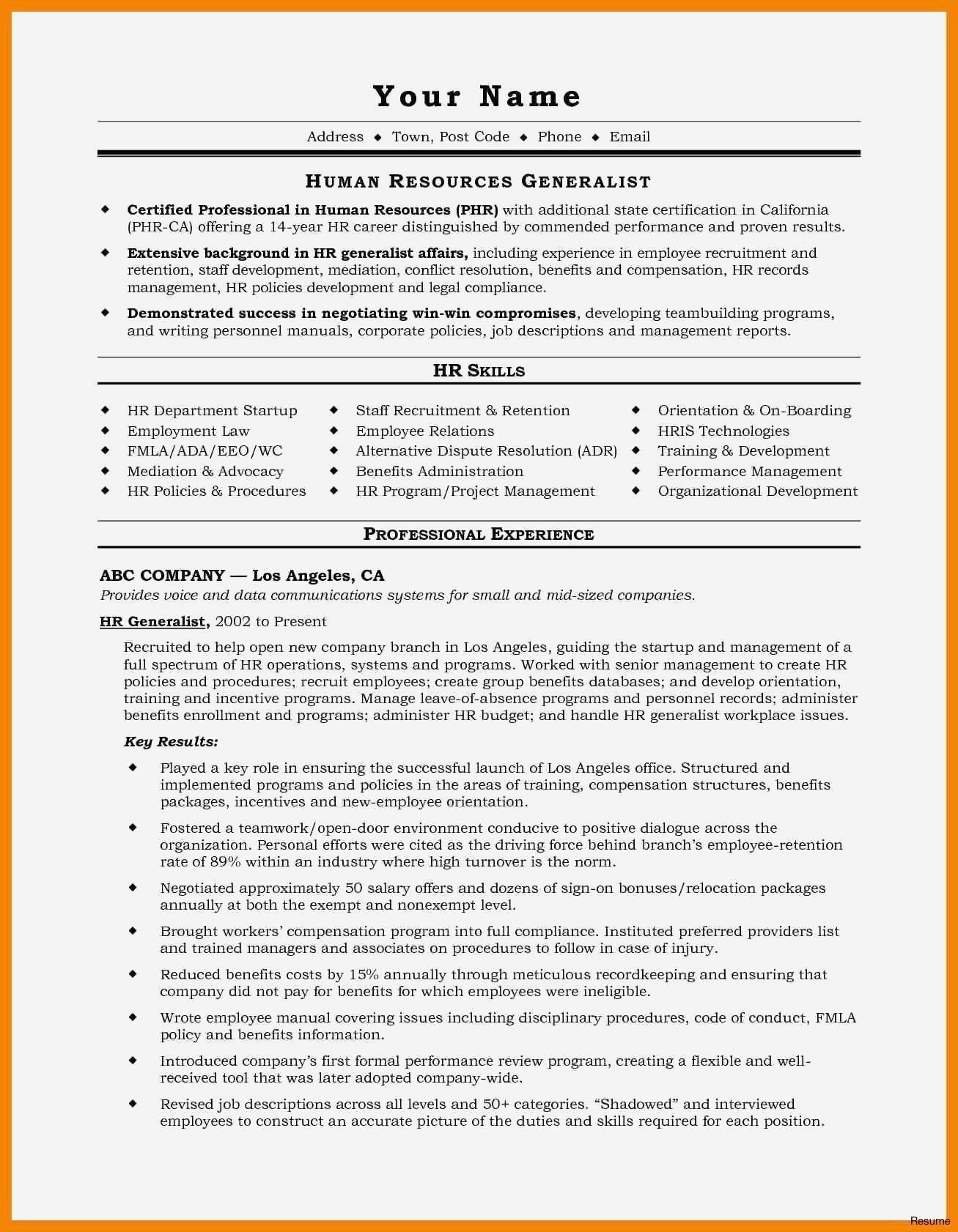 Resume Writer Los Angeles - Example A Good Resume Best Resume for It Job Unique Best Voir