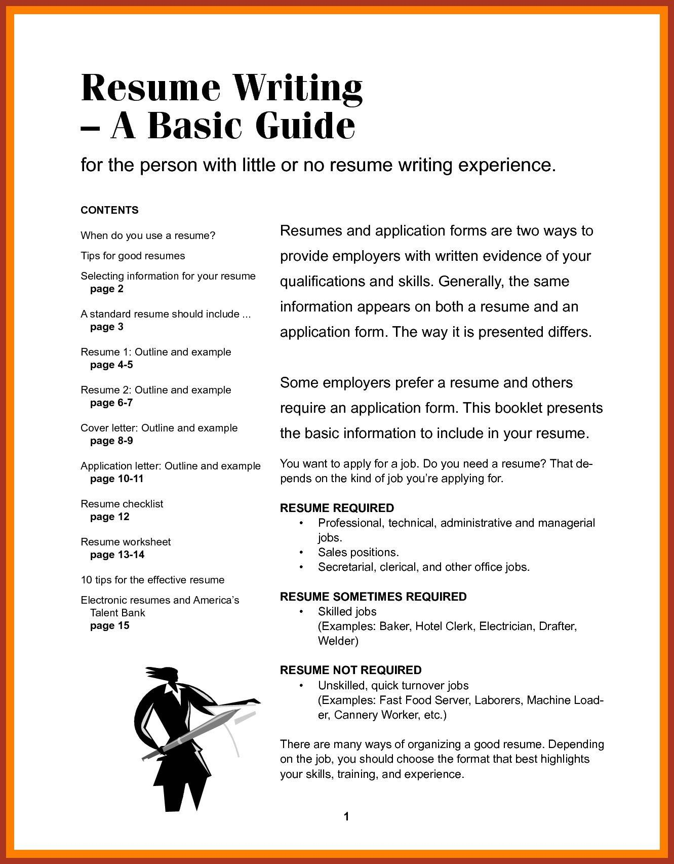 Resume Writing Guide - Lettering the Cheap Inspirational Resume for Beginners Unique