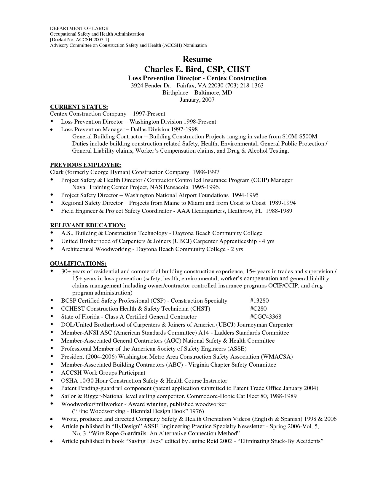 Resumes for Construction Workers - Resume Templates for Construction Workers New General Construction