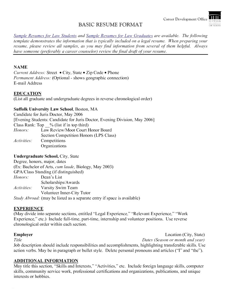 Resumes for Law School - 45 Awesome Lawyer Resume Sample
