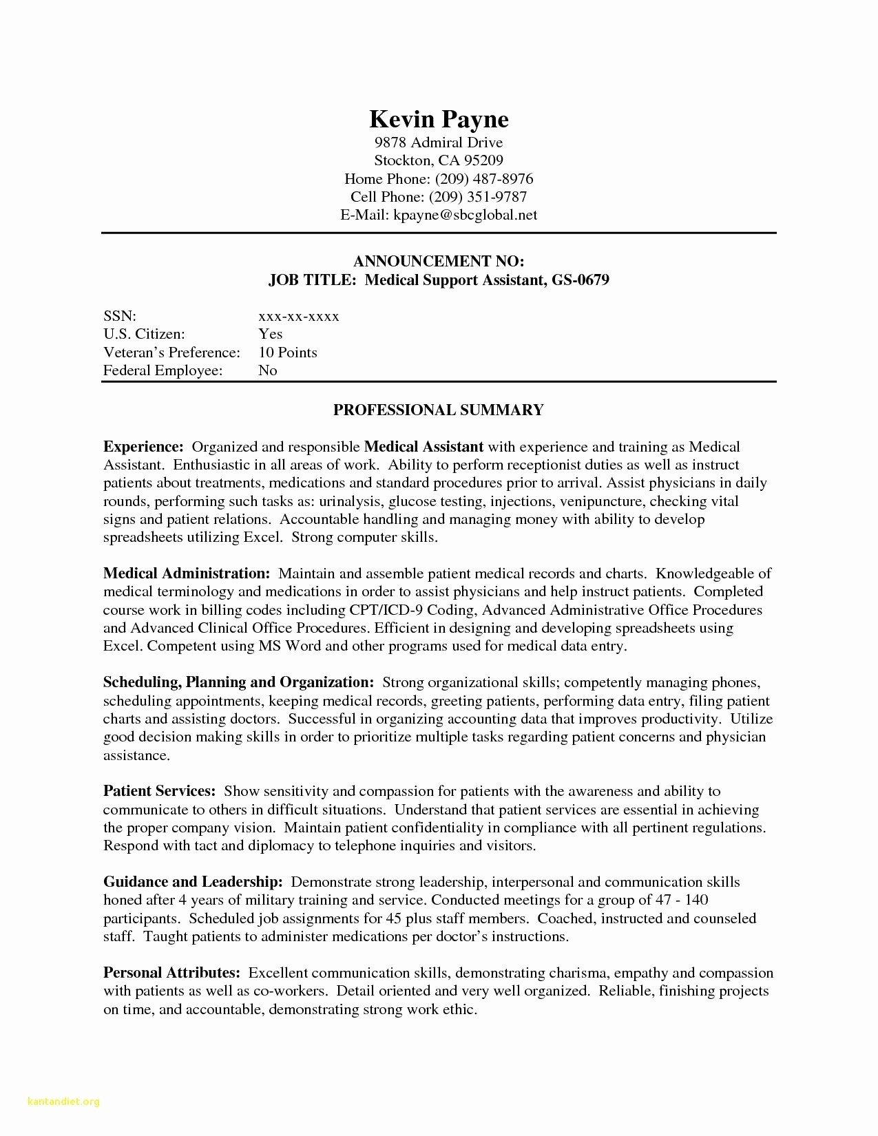 Resumes for Medical assistants with No Experience - 24 Awesome Sample Resume for Medical assistant
