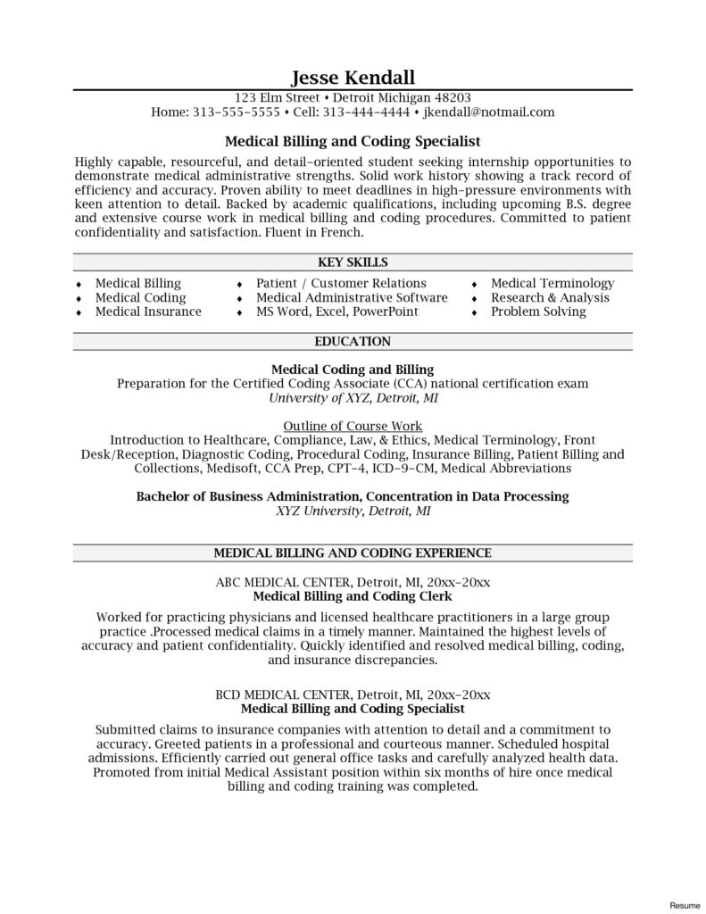 Resumes for Medical Coders - Coding Resume