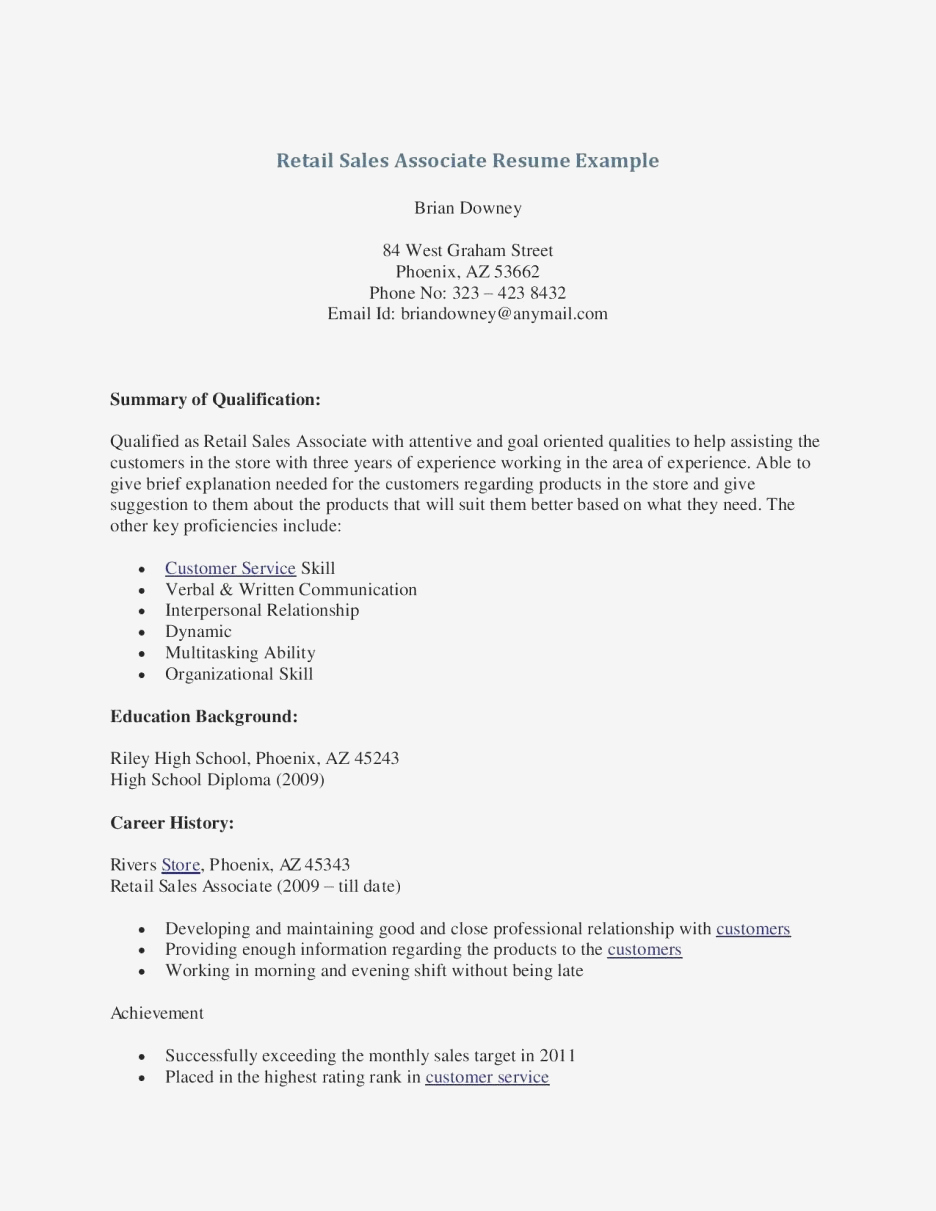 Retail Customer Service Resume - Retail Store Manager Sample Resume