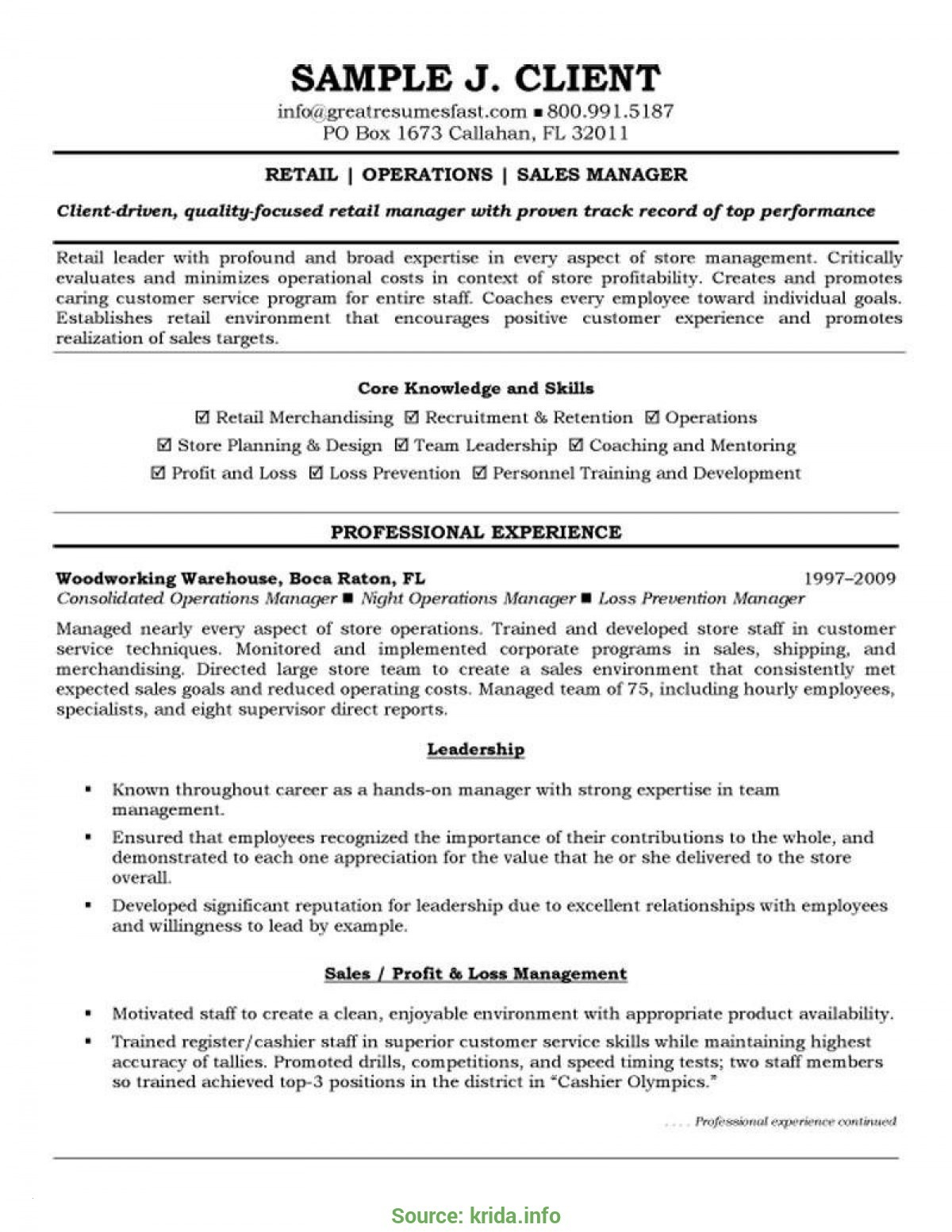 Retail Management Resume Template - Retail Store Manager Resume Example Best Retail Management Resume