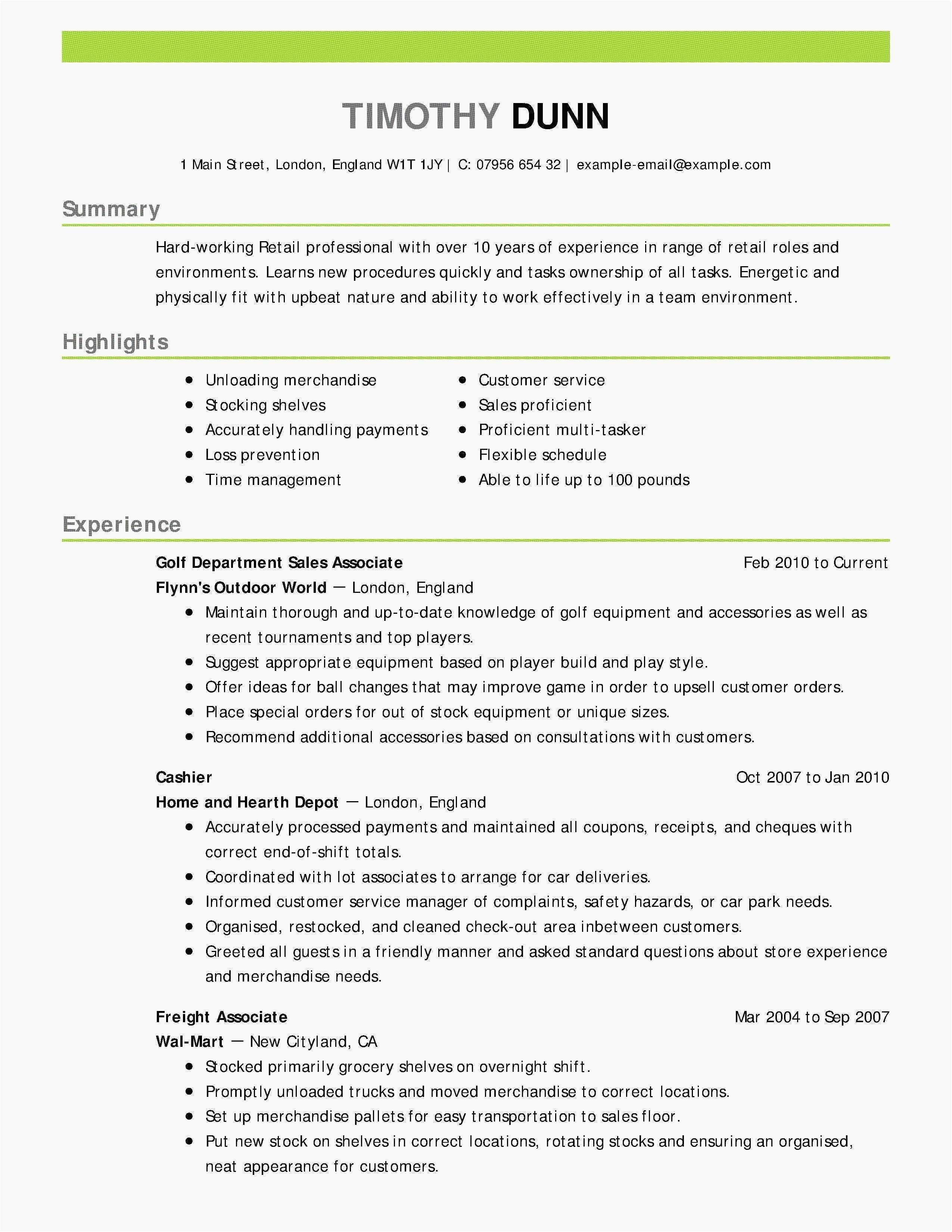 Retail Resume No Experience Sample - 50 Collection Retail Sales Receipt Template