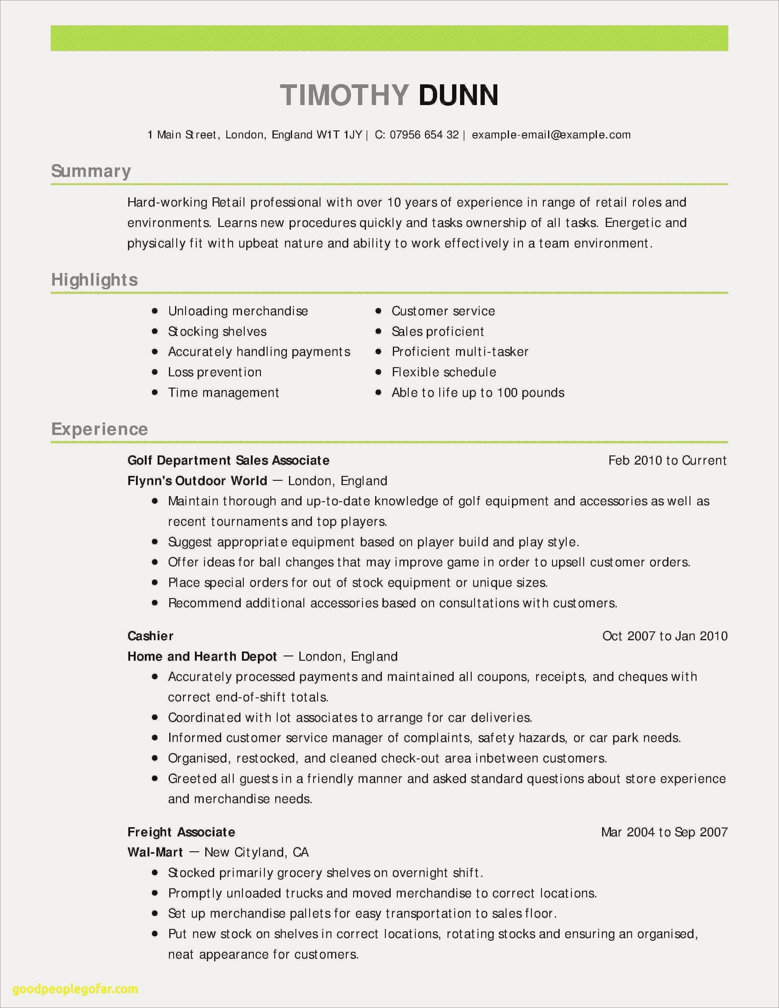 Retail Resume Summary - Resume Skills Examples for Customer Service Best Customer Service