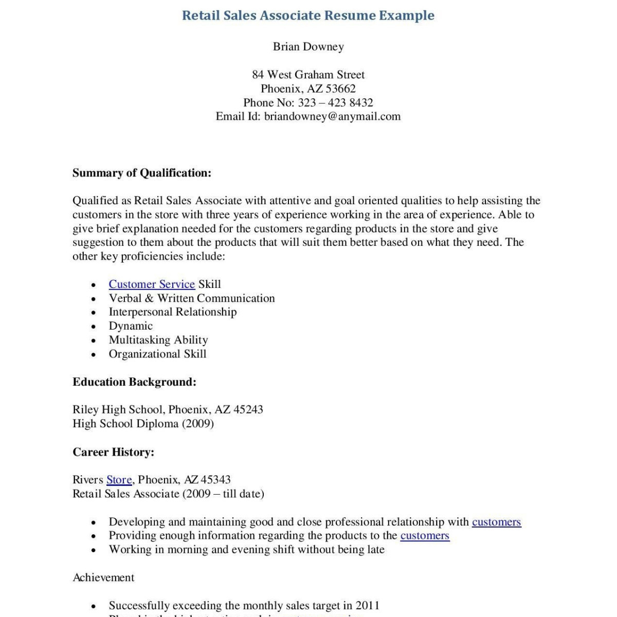 retail sales resume template Collection-Resume for Retail Store Pretty Resume for Retail Store Fresh Retail Resume 0d Archives 15-d
