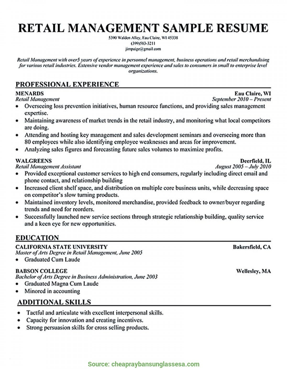 Retail Store Manager Resume Template - Retail Store Manager Resume New Retail Store Manager Resume New