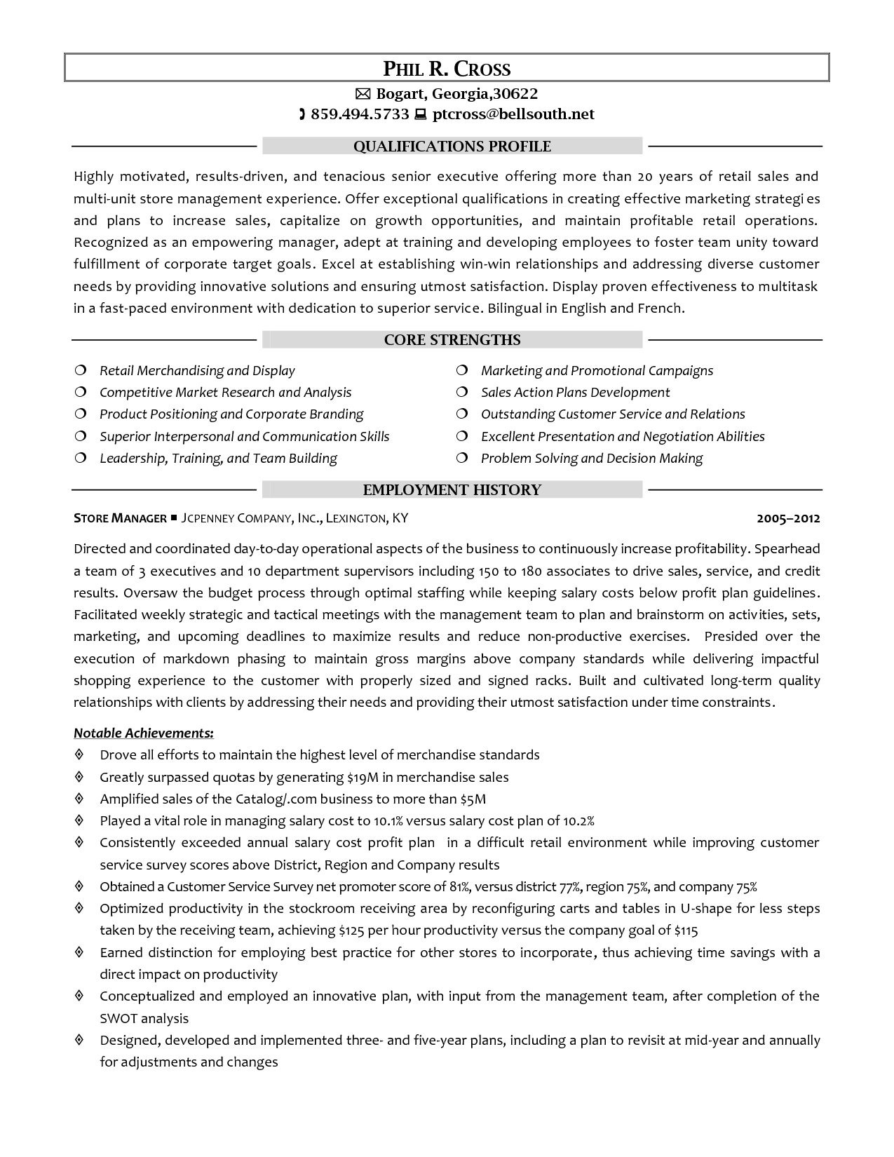 Retail Store Manager Resume Template - Resume Retail Store Manager Resume Example Best Sample Management