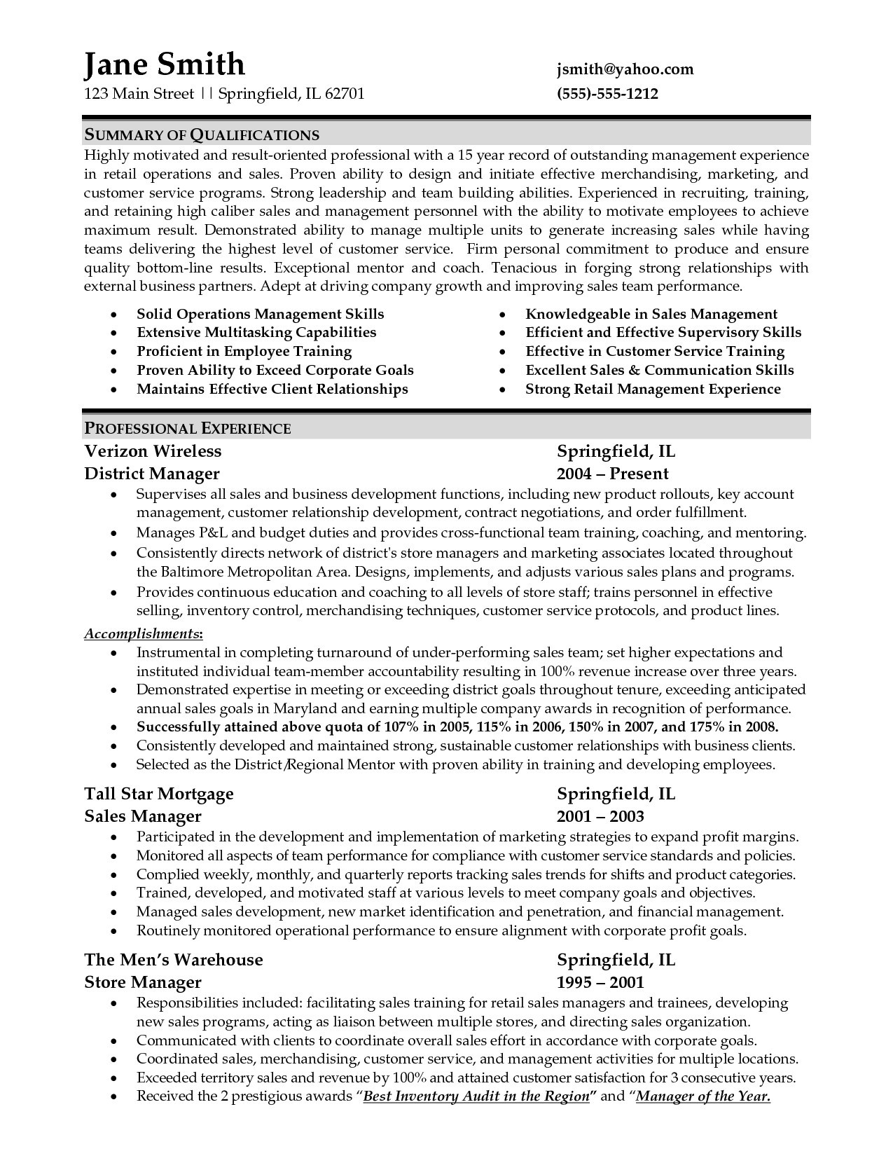 Retail Store Manager Resume Template - 20 Retail Store Manager Resume